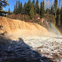 Gooseberry Falls Rushing Rainbow
