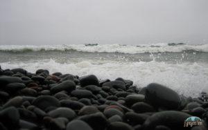 Rocks and Lake Superior Waves